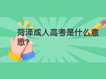 菏泽成人高考是什么意思